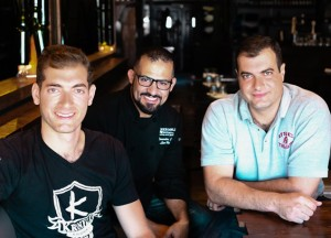 Robert Kronfli with chef Lior Hillel (center) and his brother Danny.